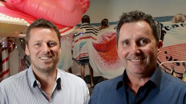 Cotton On chief executive Peter Johnson (left) and chief financial officer Michael Hardwick.