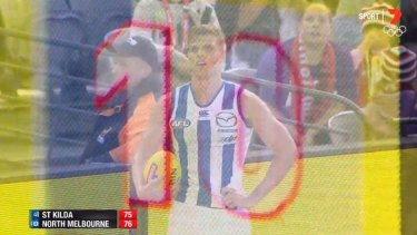 Mason Wood let the shot clock run down to ice the game against St Kilda.