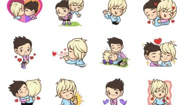 A collection of gay emojis that were made unavailable in Indonesia