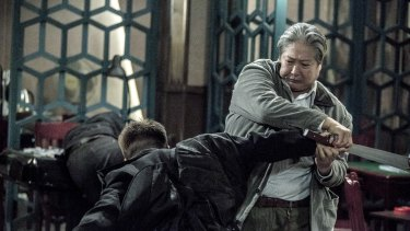 Sammo Hung in The Bodyguard: a flabby old man with the spirit of a Terminator.