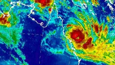 On Monday morning, Tropical Cyclone Debbie was only 285 kilometres east-northeast of Bowen.