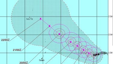 Typhoon Atsani, meanwhile, is forecast to veer north-westwards towards Japan.