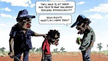 The controversial Bill Leak cartoon.