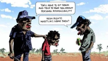The Bill Leak cartoon that prompted the #Indigenousdads hashtag.