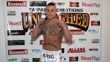 """Antonio Bagnato, also known as """"Tony Bang"""", when he fought Muay Thai in Sydney in 2012."""