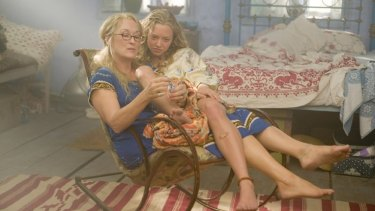 """As drop-out hippie Donna, Meryl Streep must account for her freewheeling youth when daughter Sophie (Amanda Seyfried) decides to invite three of her mother's ex-lovers to her wedding in a bid to find out whose DNA she's inherited. In the ensuing kerfuffle Donna is convinced that """"somebody up there has got it in for me – I bet it's my mother."""""""