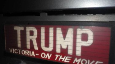 A Trump number plate in Australia.