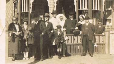 The cottage hospital on Rickard Avenue, Bondi, where the Symonds were born. This shot taken of the family after the boys' bris ceremony.