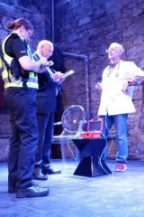 """Australia's """"Dr Death"""" Philip Nitschke, is visited by police in Scotland."""