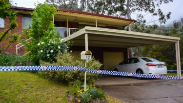 The Abberfields' Bailey Ave home in East Tamworth remained cordoned off on Monday as police piece together the lead-up to Sunday's shooting.