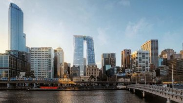 CBUS Property's plan for 447 Collins Street – twin towers connected by a skybridge - has been rejected by the planning minister.
