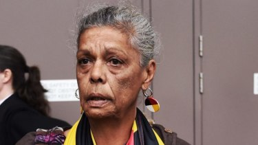Jenny Munro shows bitter disappointment when a ruling from the Supreme Court went against the Redfen Tent Embassy earlier this month.