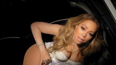 Mariah Carey in the film clip for her single I Don't.