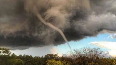 Mel Sharkey captured this shot of the tornado in Dubbo.