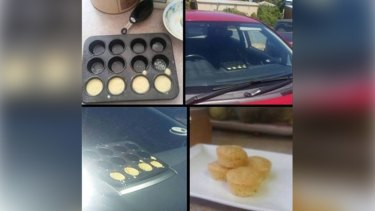 Perth resident Kellie Hill's post about cooking cupcakes in the heat of her parked car has gone viral on social media.