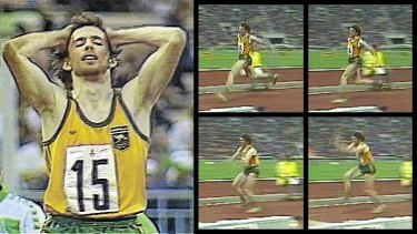 Cruel turnaround: The controversial jump that should have made Ian Campbell the triple jump gold medallist at the Moscow Olympics.