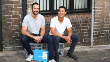 Shippit co-founders Rob Hango-Zada and Will On.