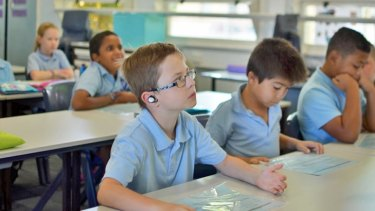 Perth school boy Kai finds it easier to concentrate on the teacher's voice with Nuheara's IQbuds helping to compensate for his Auditory Processing Disorder.