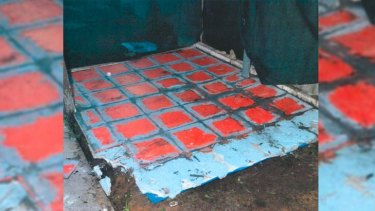 The tiling used to hide Mr Pajich's buried body.