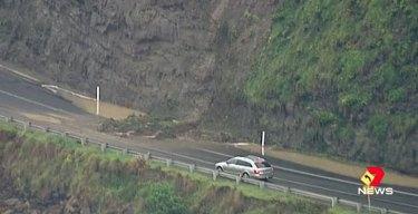 Landslides on the Great Ocean Road.