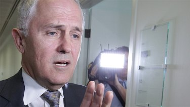 Prime Minister Malcolm Turnbull after a radio interview on Friday.