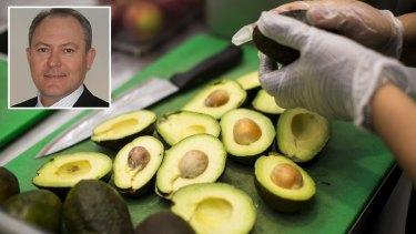 Avocado prices will not drop, Avocados Australia chief executive John Tyas (inset) says.