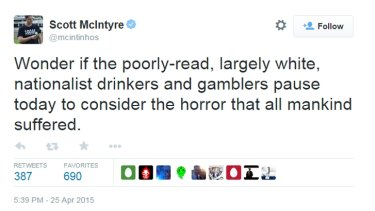 One of the tweets posted by Scott McIntyre.