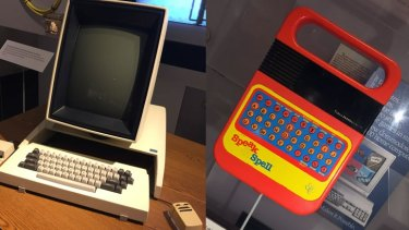 Tech for work and play: Xerox's Alto desktop computer which gave us the Graphical User Interface, alongside Texas Instruments' Speak & Spell.
