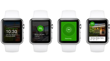 How Domain's app will look on the Apple Watch.