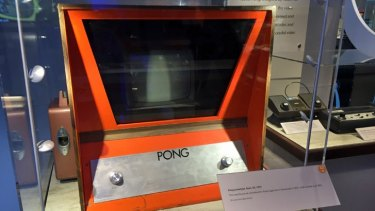 Atari's Pong helped spark the arcade gaming revolution, with early home consoles on the right.