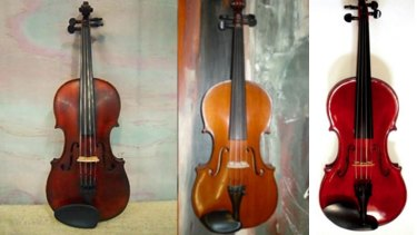 Three of the stolen instruments.