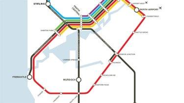 The original Metronet layout drawn up by WA Labor.