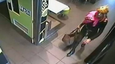 An image taken from CCTV footage of the hold-up.