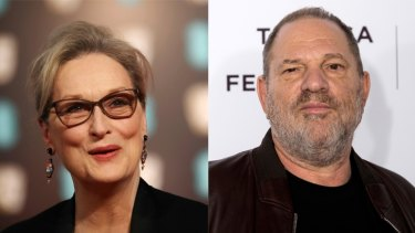 """Meryl Streep said she is """"appalled"""" at the revelations of sexual harassment by Harvey Weinstein."""