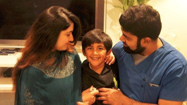 Sufi with his mother Hafsa and father Shadan.