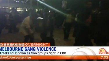 Gangs brawled in Melbourne's CBD marring Moomba celebrations.