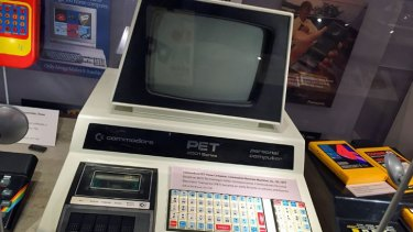 The Commodore PET – one of the first PCs aimed at retail shoppers – on show at the Computer History Museum in Mountain View, California.