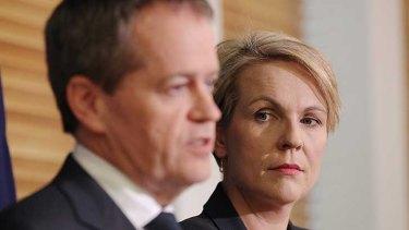 Hardening line on asylum seeker policy: Labor leader Bill Shorten and deputy Tanya Plibersek.
