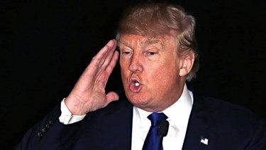 """Outrageous"": Donald Trump."