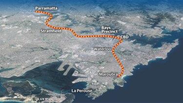 Possible Parramatta-CBD rail link.
