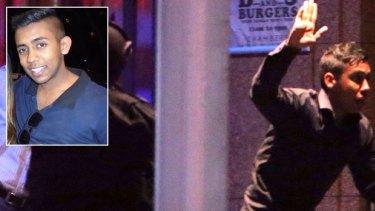 Joel Herat, Sydney siege hostage flees the Lindt cafe.