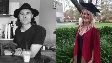 Perth graduates Chaz Flint and Nicole Tait.