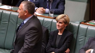 Foreign Minister Julie Bishop on Monday.