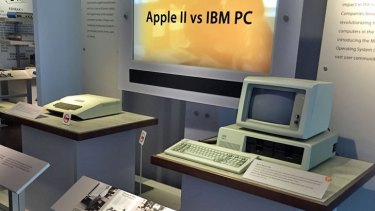 The birth of a rivalry: The Apple II pitted against the IBM PC.