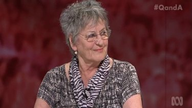 Germaine Greer on the Q&A panel.