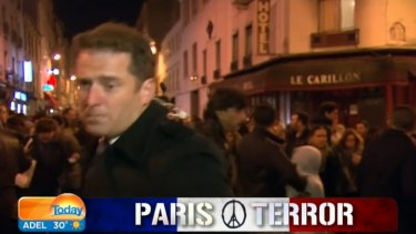 The Channel Nine footage of Karl Stefanovic reporting from Paris has been used in the IS video.