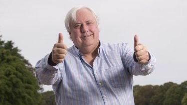 Clive Palmer at the Coolum Resort.