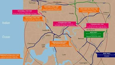 At least 95 kilometres of cycling path to be added to Perth's network .
