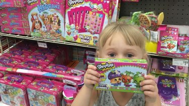 Young children have been swept up in the Shopkins craze.
