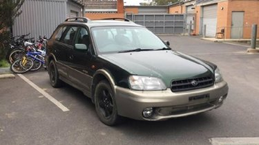 Police said Allecha Boyd travelled as a passenger in this Subaru from Wagga Wagga to Coolamon on the day she disappeared.